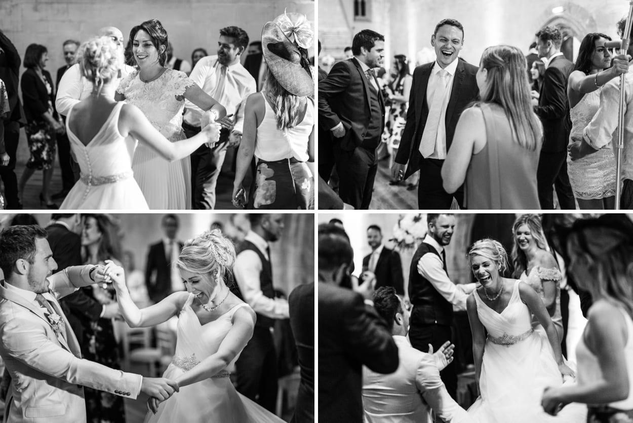 Wedding dancing at St Donats Castle