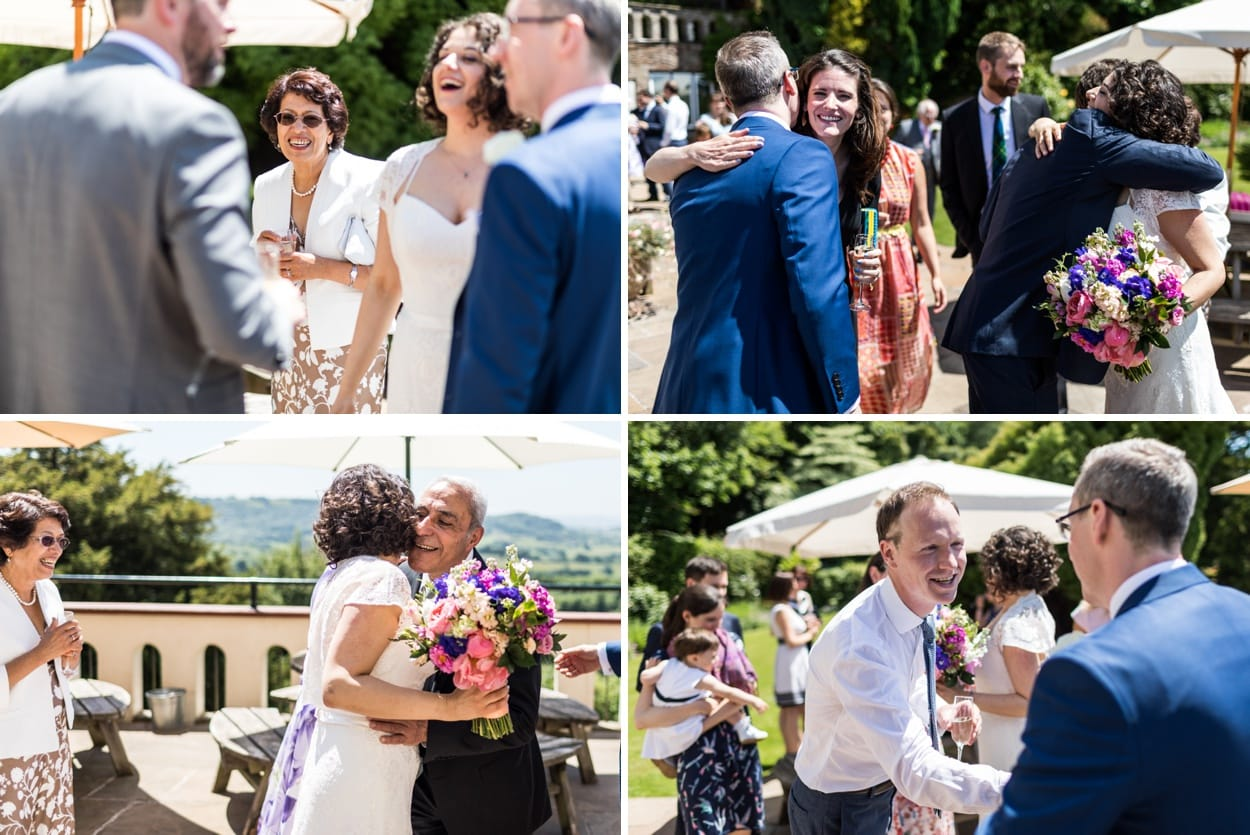 Marriage ceremony summer wedding at Caer Llan