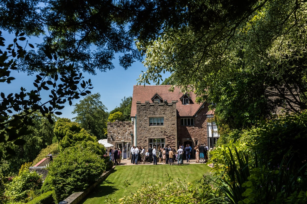 Summer wedding at Caer Llan