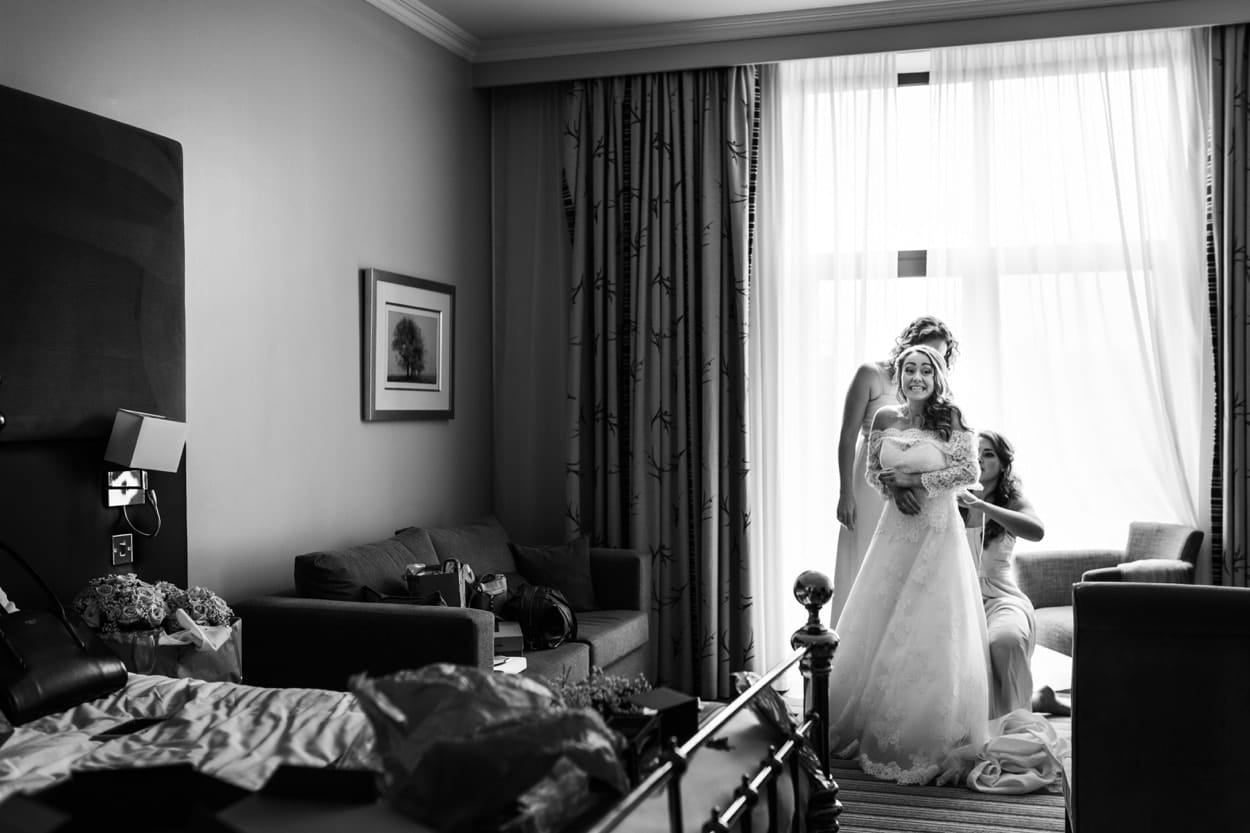Bridal preparations for a De Courceys Manor Wedding