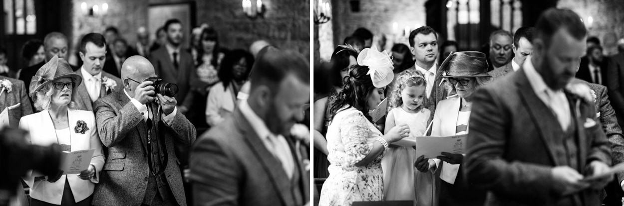 Wedding ceremony St Deny's Church in Lisvane, Cardiff