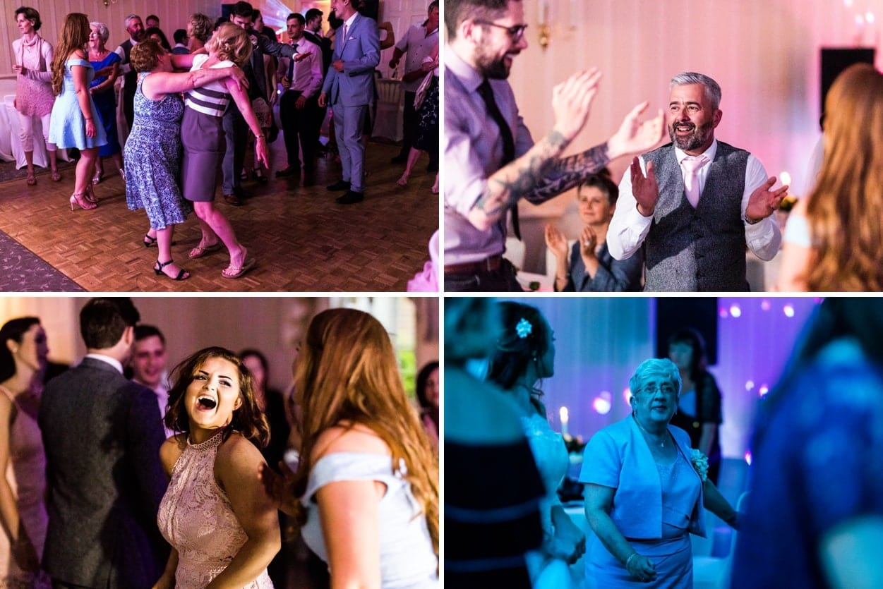 Wedding dancing at De Courceys Manor near Cardiff in South Wales