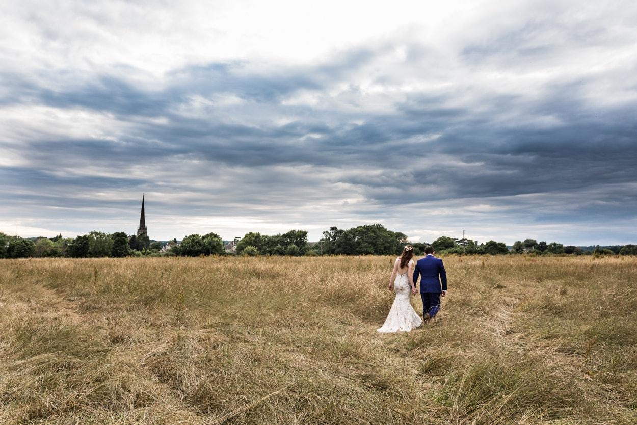 Cotswold wheat field in Tetbury