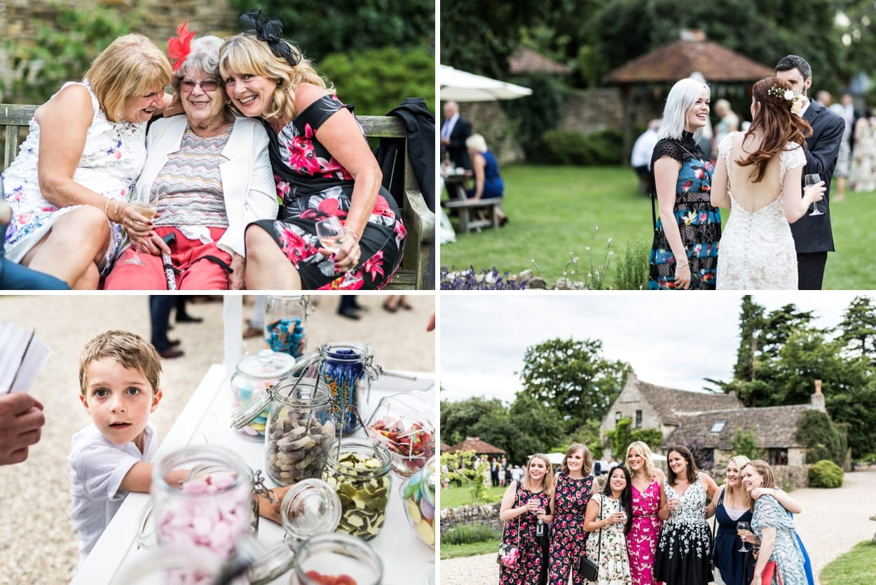 Cotswold wheat field Wedding reception at Great Tythe Barn in Tetbury
