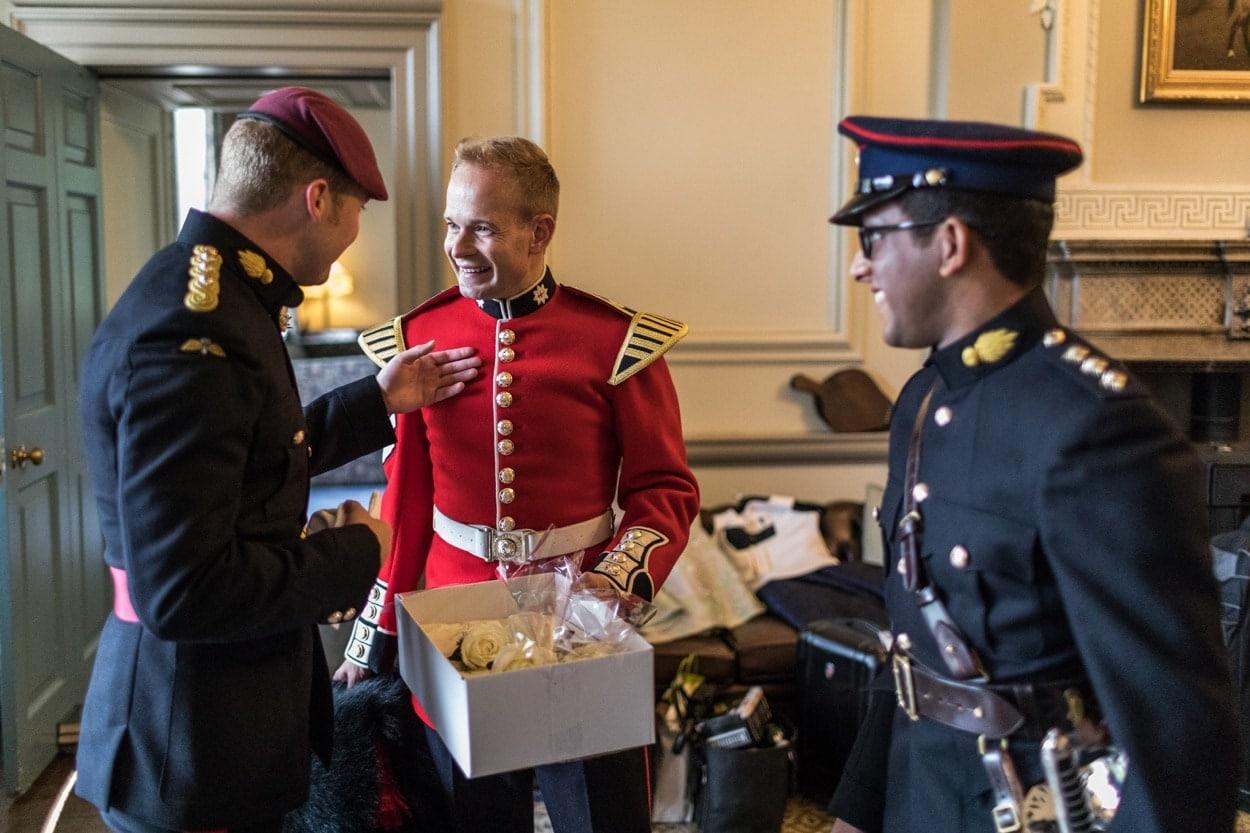 Solider groom in army uniform
