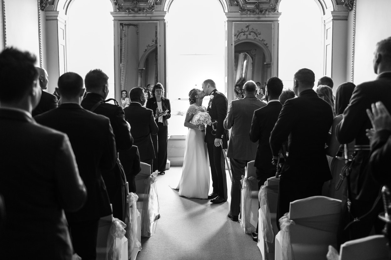 Wedding ceremony in the Music Room at Nanteos