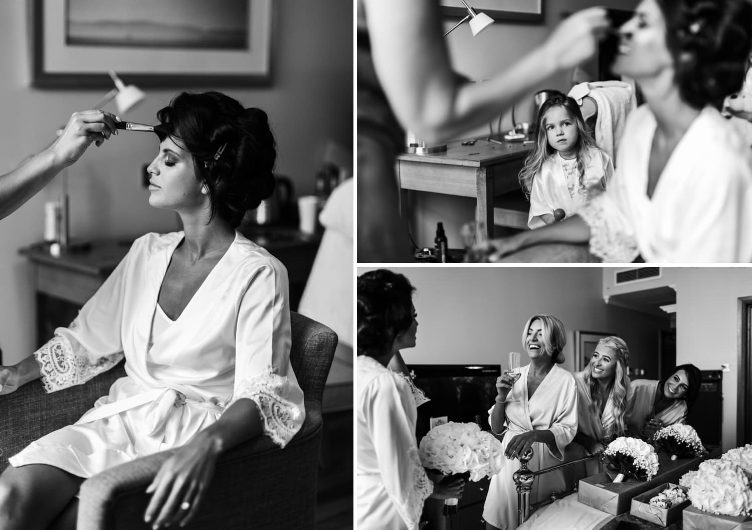 Bridal preparations for Hensol Castle wedding
