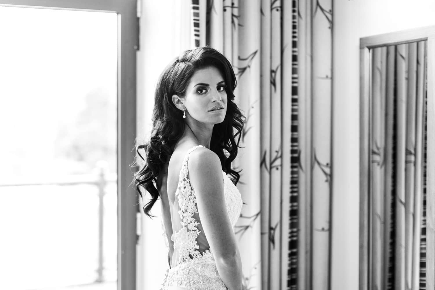 Beutiful brunette bride at Hensol Castle wedding