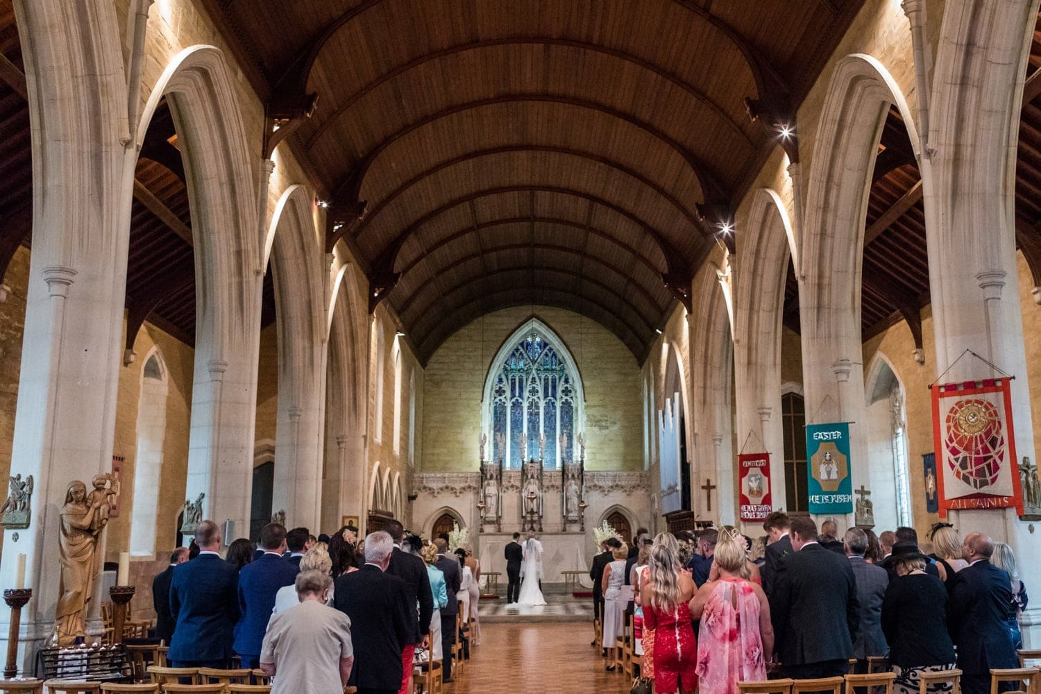 Wedding at All Saints Church in POrthcawl, South Wales