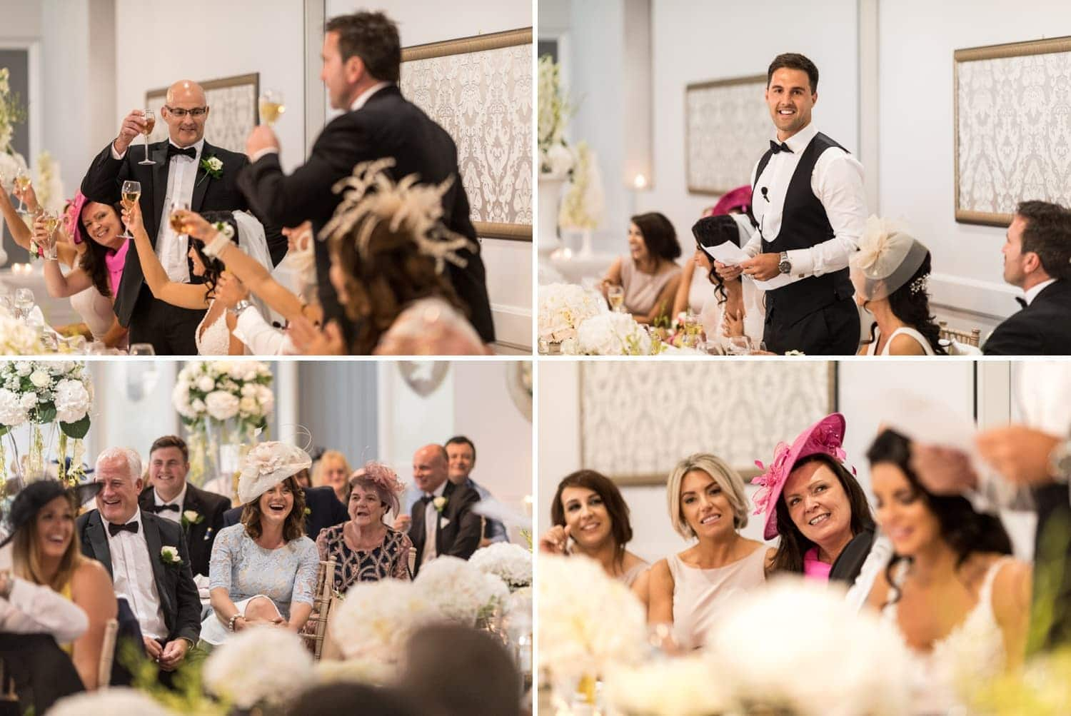 Wedding breakfast speeches at Hensol Castle