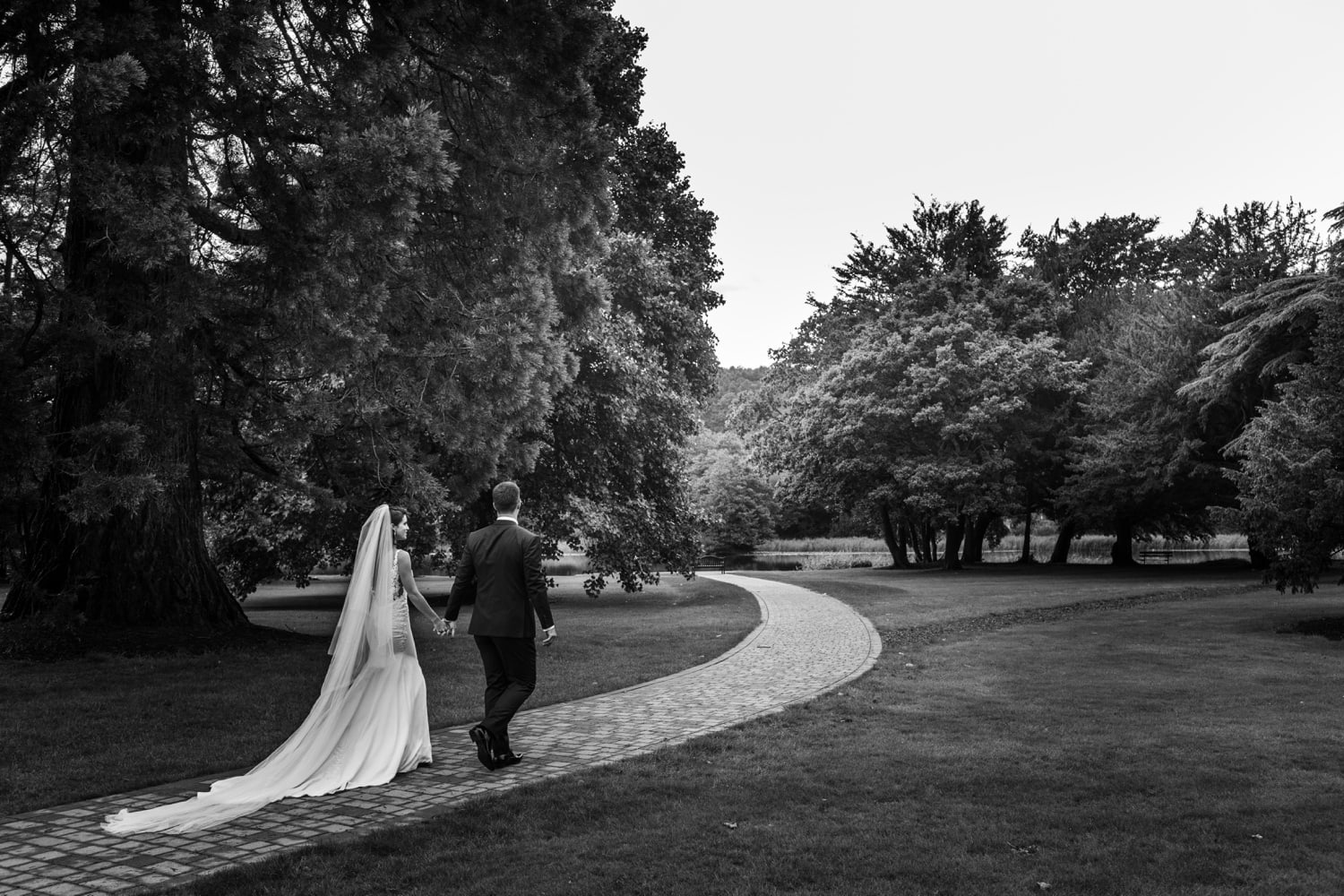 Bride and groom portraits at Hensol Castle in South Wales