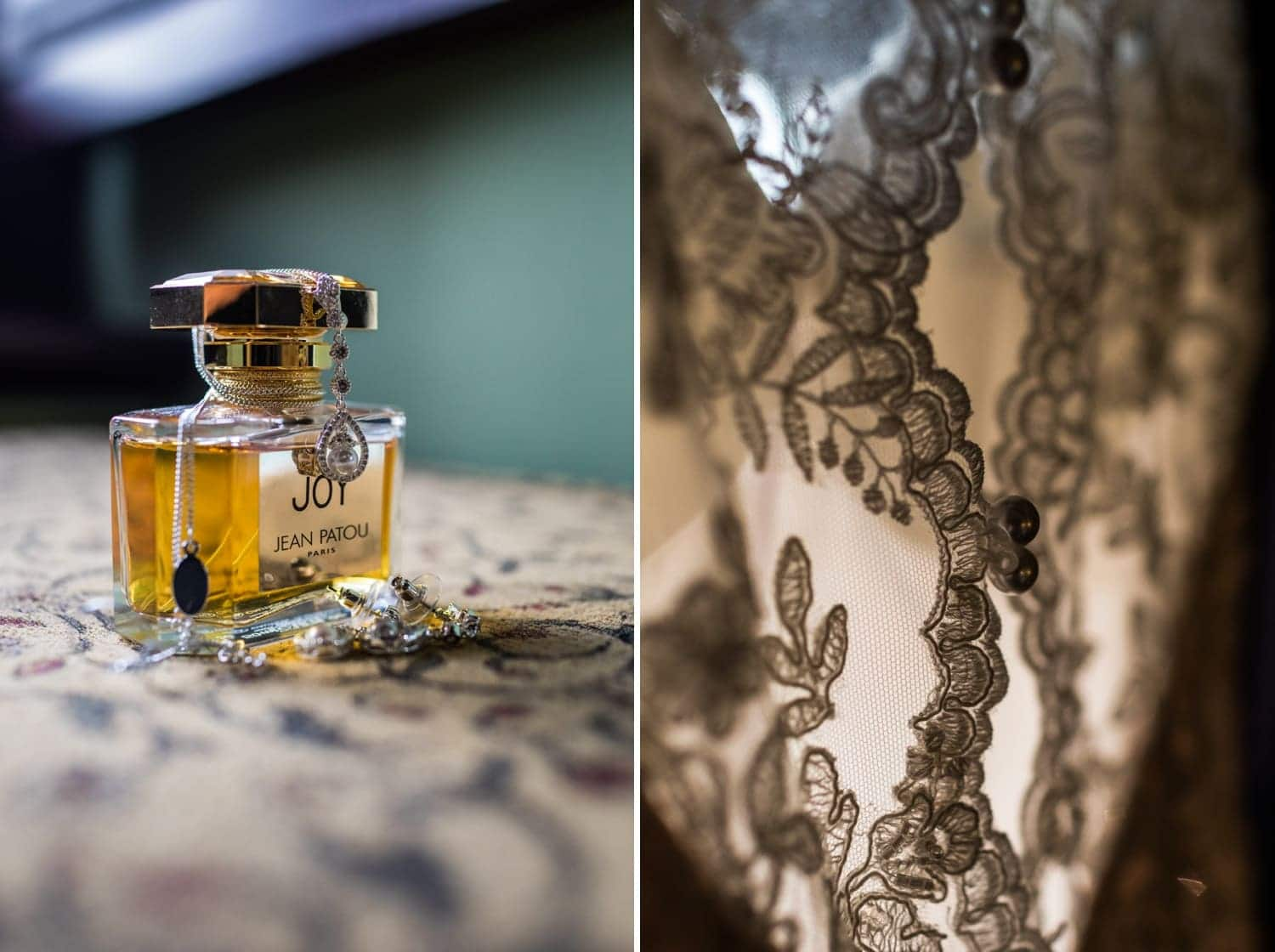 Wedding perfume and jewellery