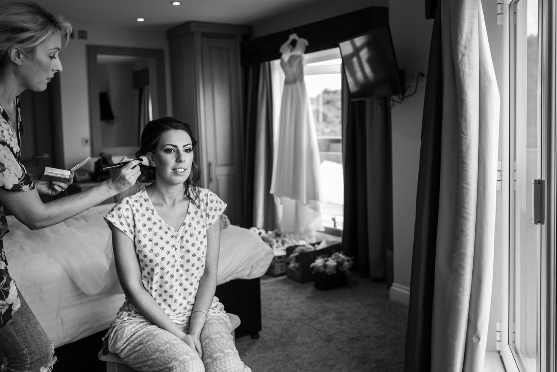 Bridal make up at Oxwich Bay Hotel