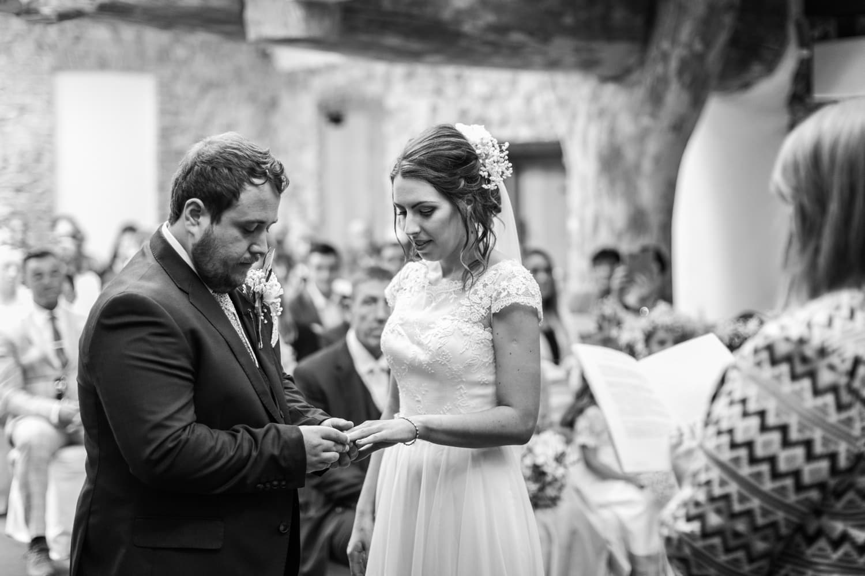 wedding ceremony at Oxwich Bay Hotel