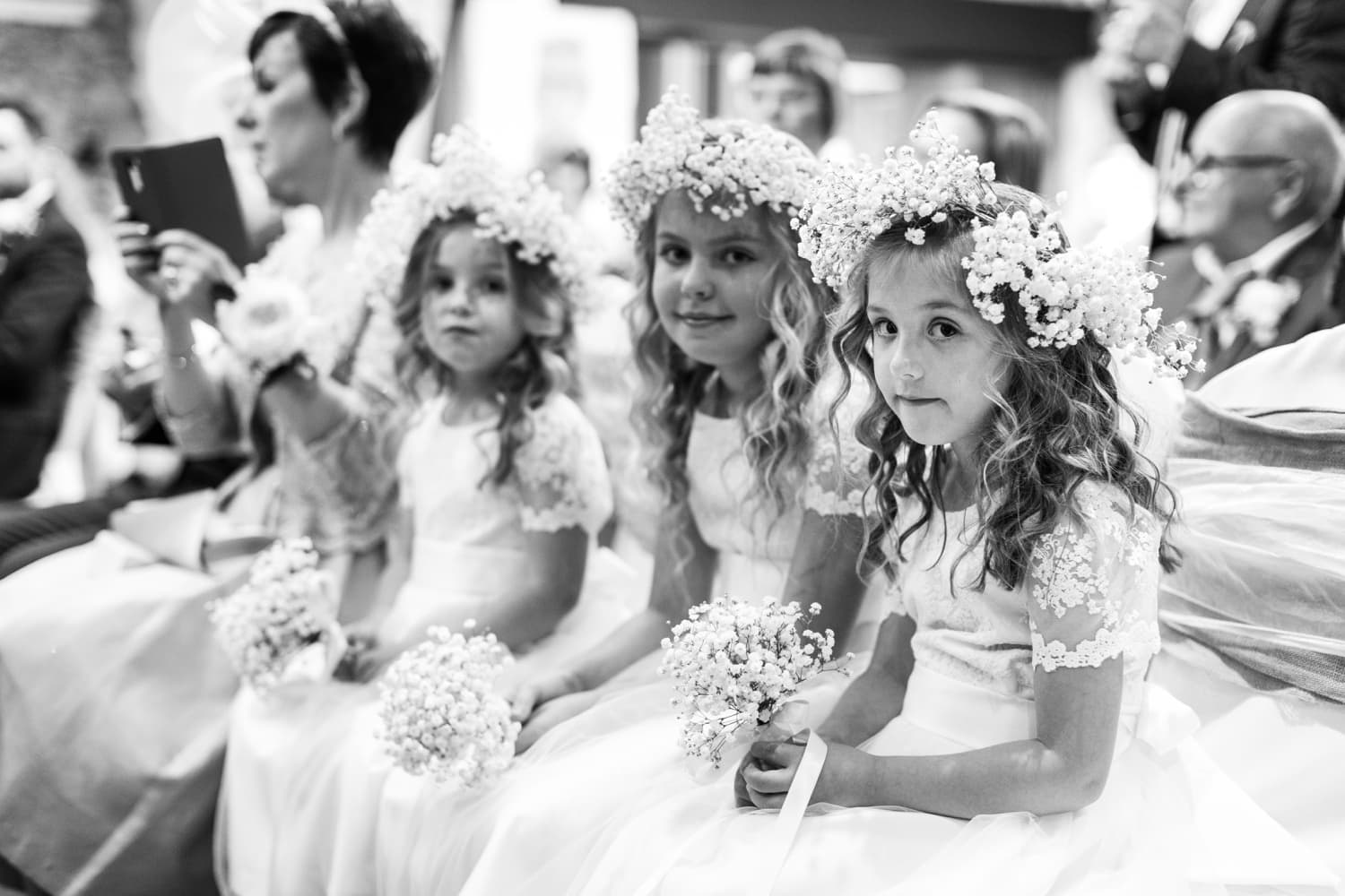 flower girls at Oxwich Bay Hotel