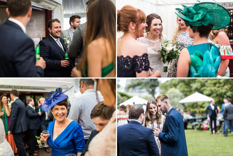 wedding guests candid