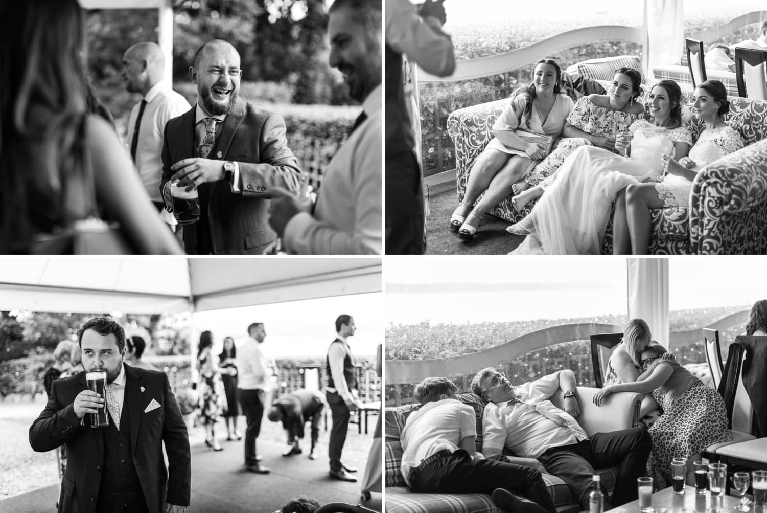 Wedding guests relaxing