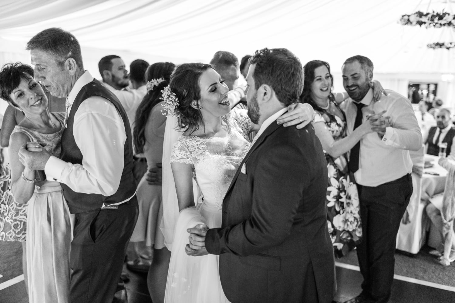 Wedding first dance at Oxwich Bay Hotel