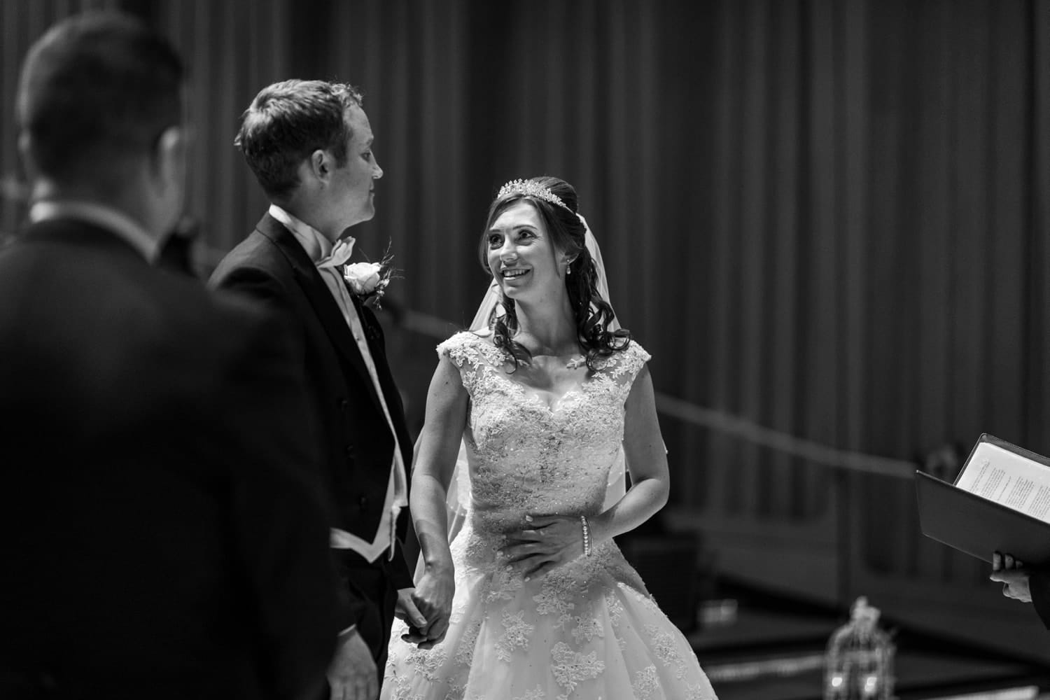 Concert Hall wedding ceremony at The Royal Welsh College of Music and Drama