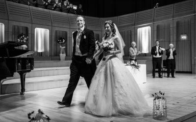 RWCMD Concert Hall Wedding – Suzanne & James