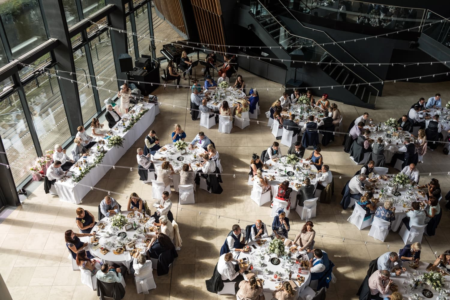 Wedding at Royal Welsh College of Music and Drama in Cardiff, South Wales