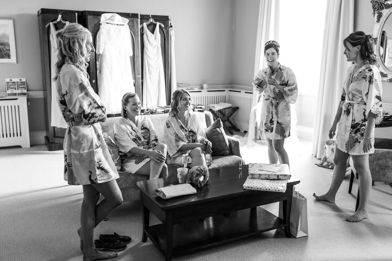 bridal preparations in Nanteos, Mid Wales