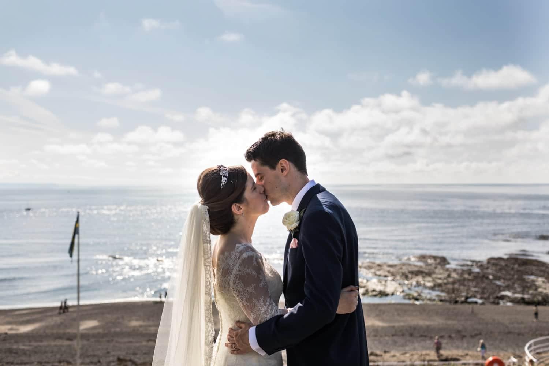 wedding day portraits at Aberystwyth in Mid Wales