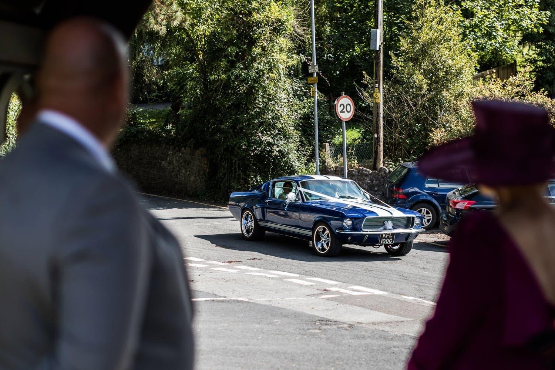 Ford Mustang at wedding