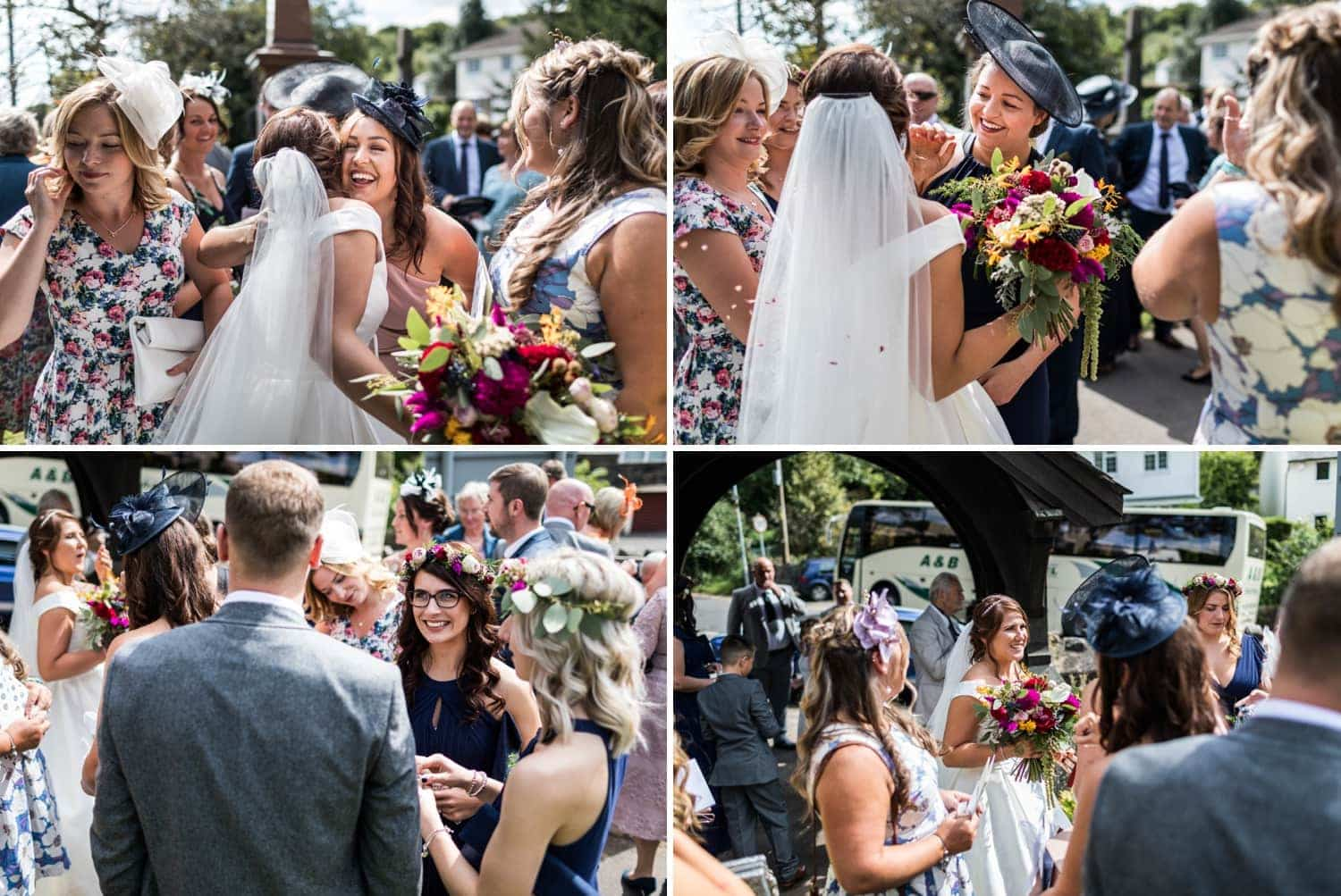 Wedding in St Catwgs Church in Pentyrch, South Wales