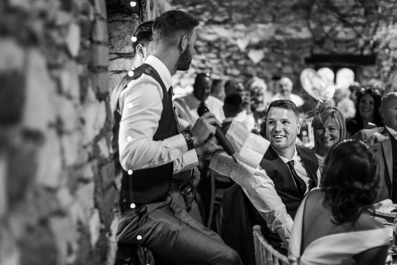 Summer wedding reception at Pencoed House in South Wales