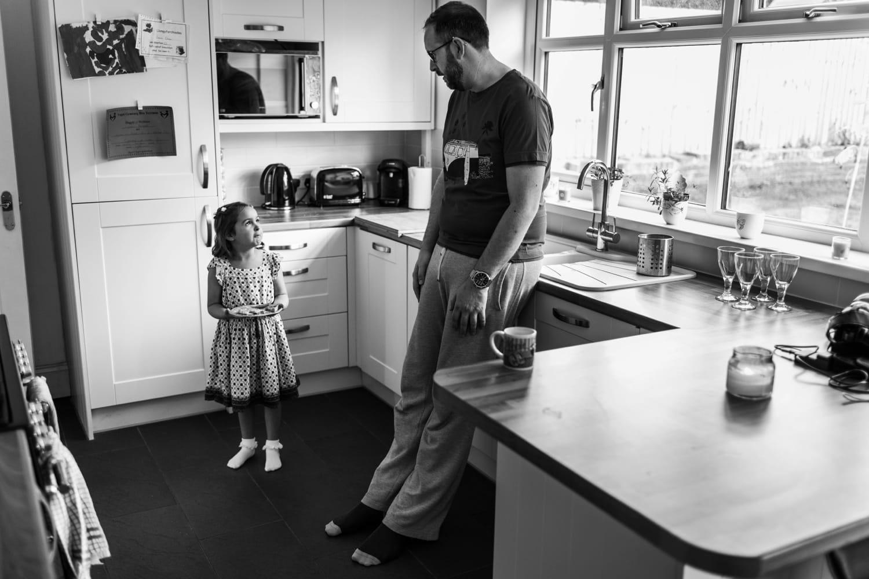 Groom talks to niece