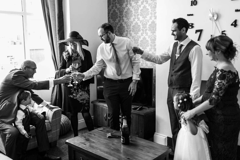 champagne toast at same sex wedding