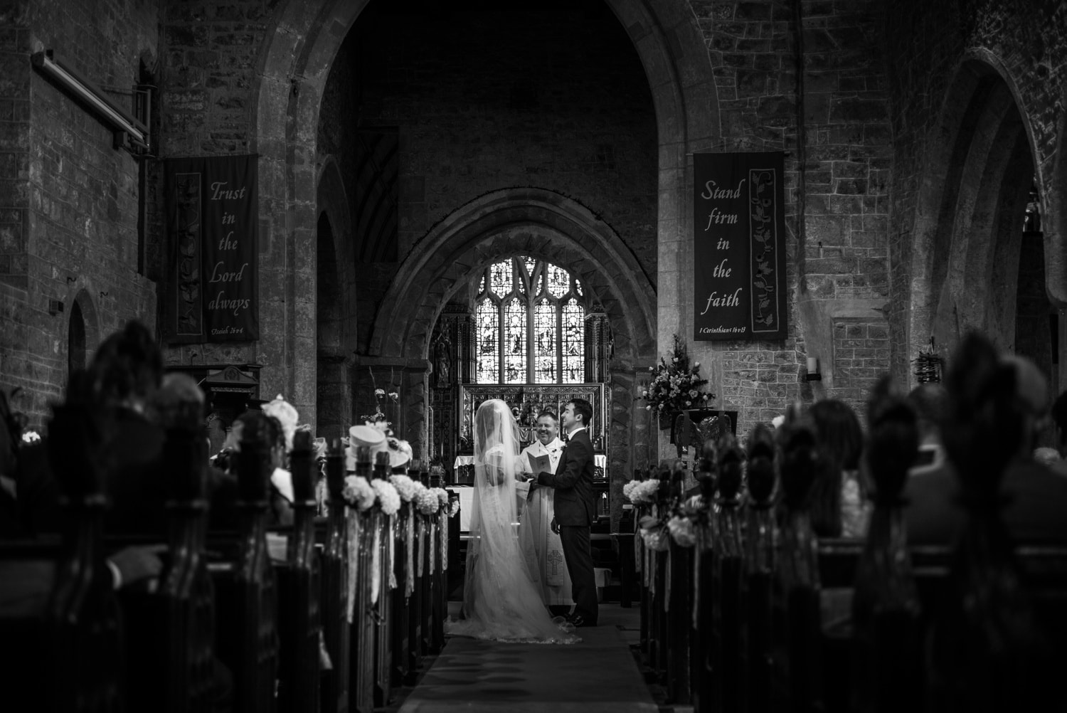 Wedding ceremony at at St Andrews Church in Clevedon, Somerset