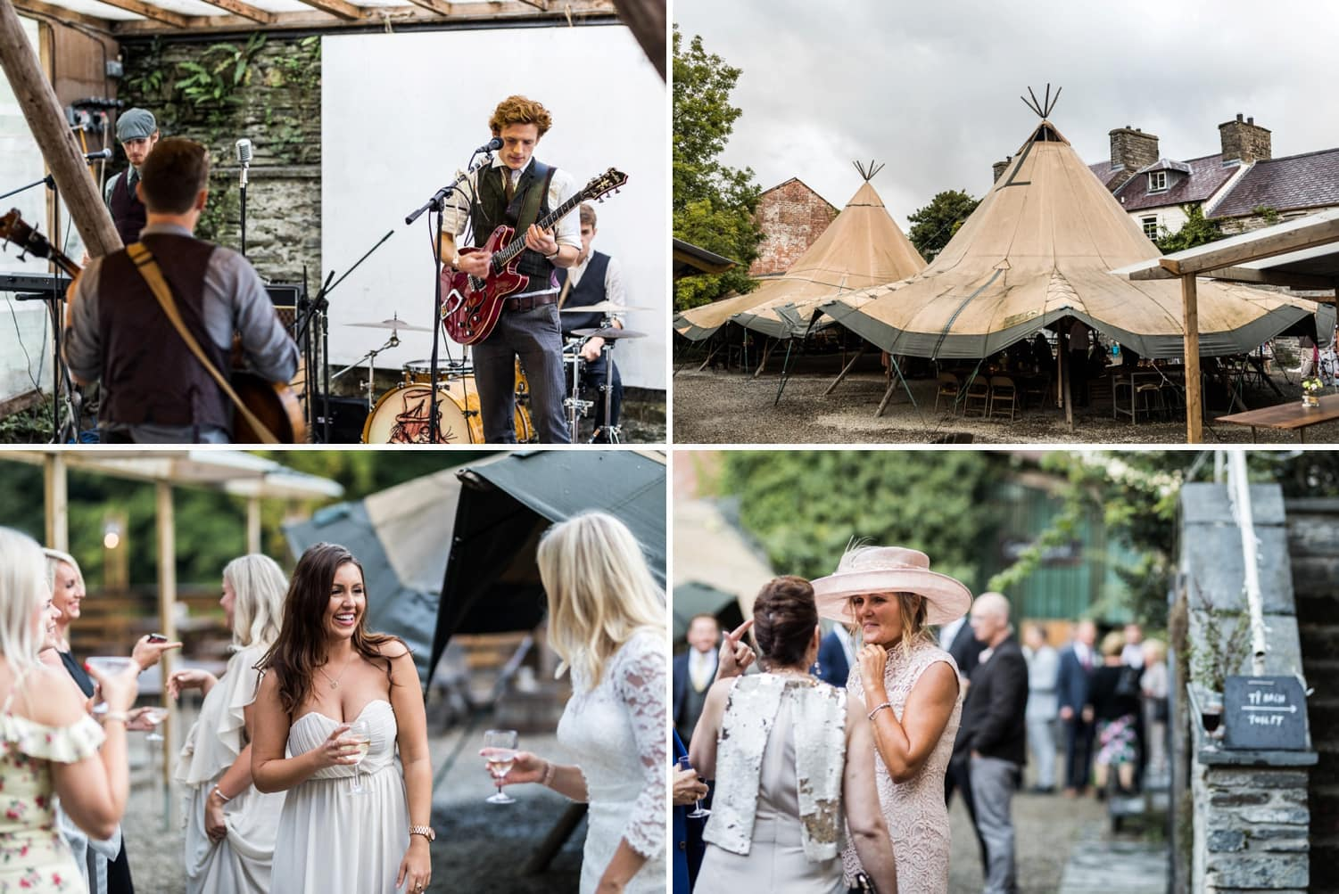Wedding reception at Pizza Tipi in Cardigian, Wales