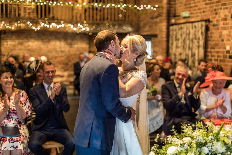 Wedding ceremony at Curradine Barns