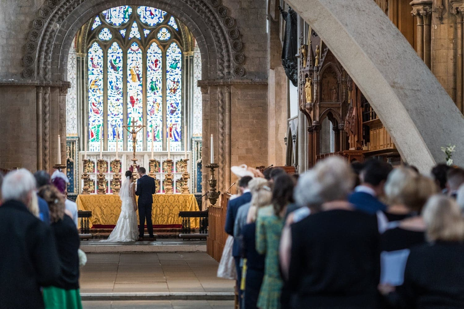 wedding ceremony at Llandaff Cathedral
