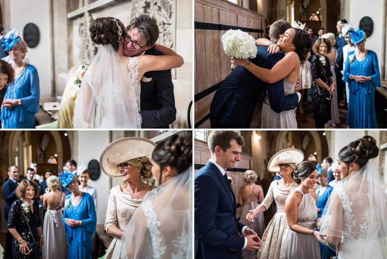 Wedding congratulations at Llandaff Cathedral