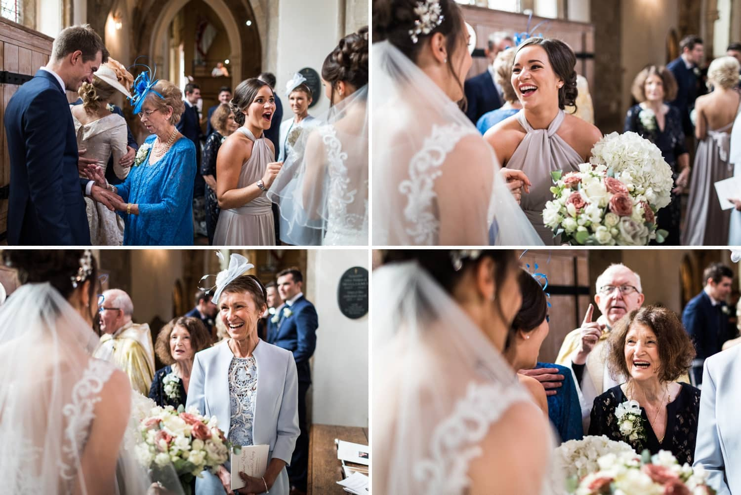 Wedding congratulations at Llandaff Cathedral