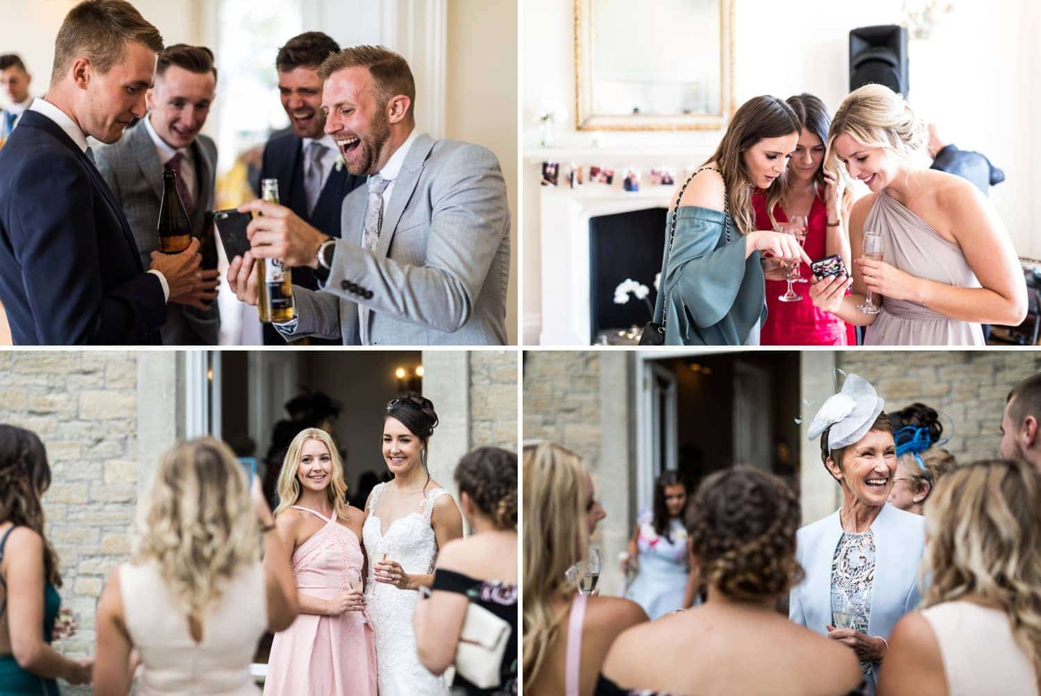 Wedding reception at St Tewdrics House in South Wales