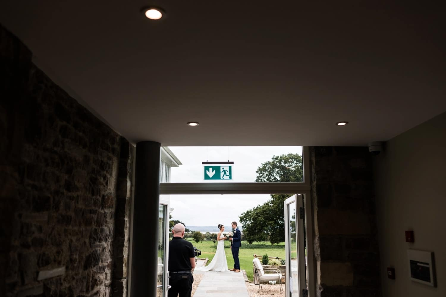Wedding breakfast entrance