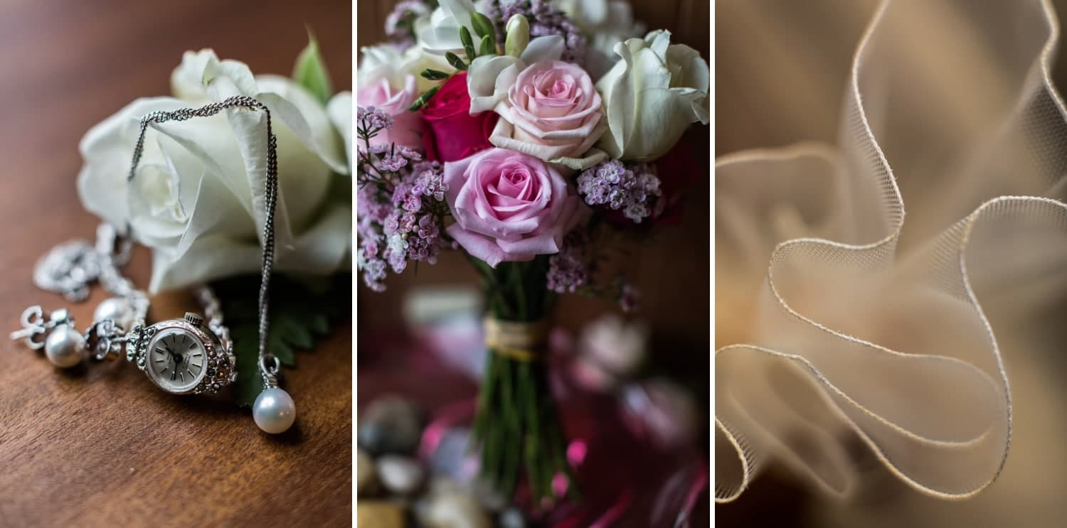winter wedding bridal details