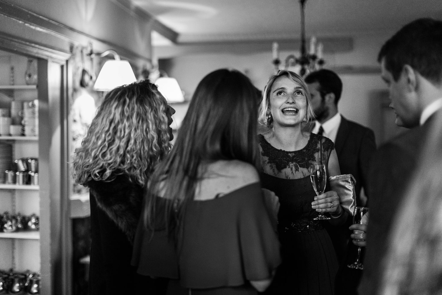 Winter wedding reception at King Arthur Hotel, Gower