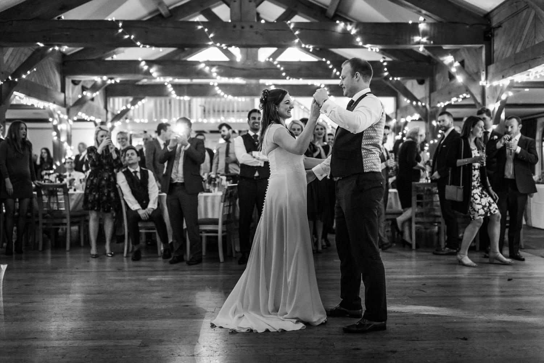 Winter wedding reception at King Arthur Hotel, Gower