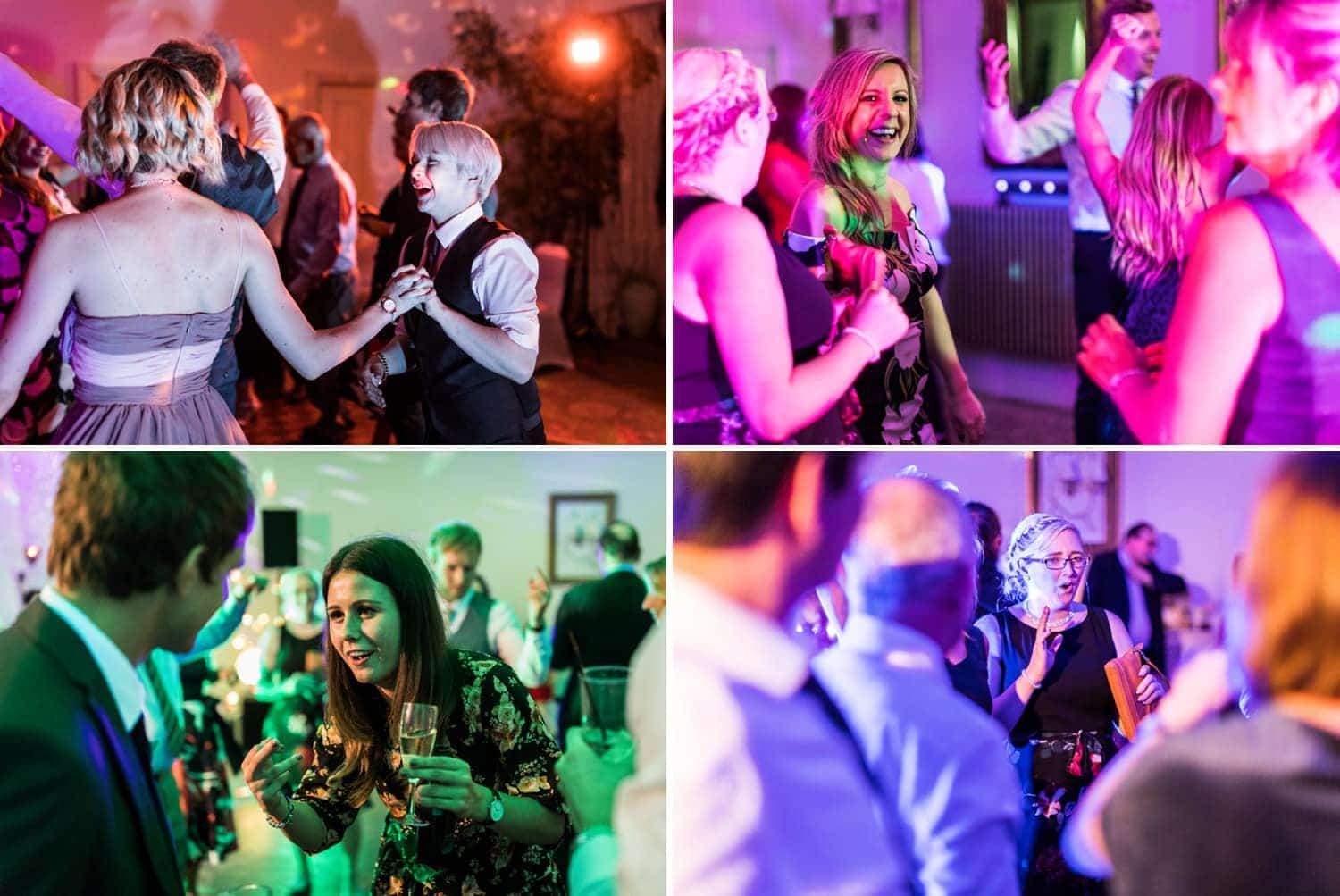 wedding dancing at Peterstone Court