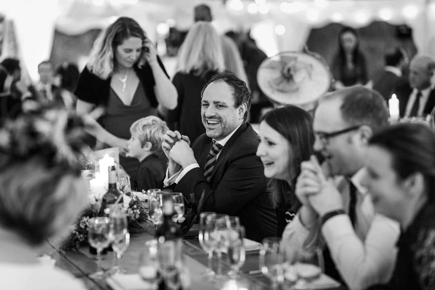 speeches at a marquee wedding reception