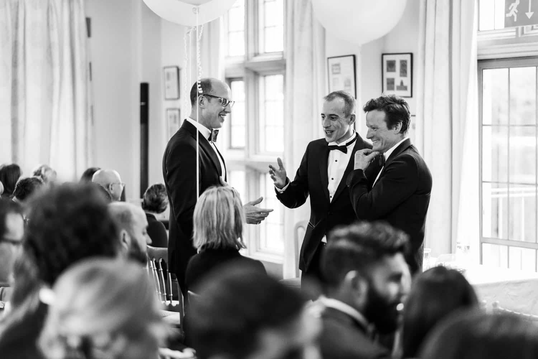 Groom at Llangoed Hall wedding ceremony