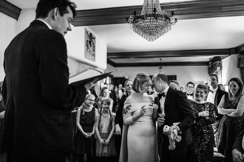 Wedding speeches at Langoed Hall