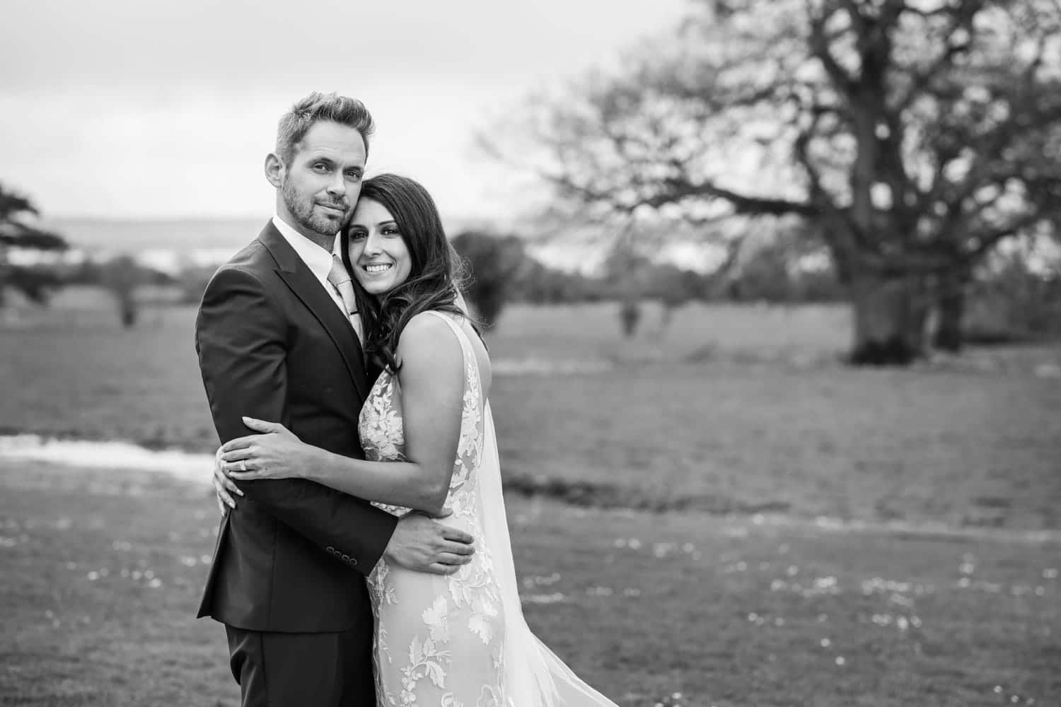 bride and groom portrait at st tewdrics