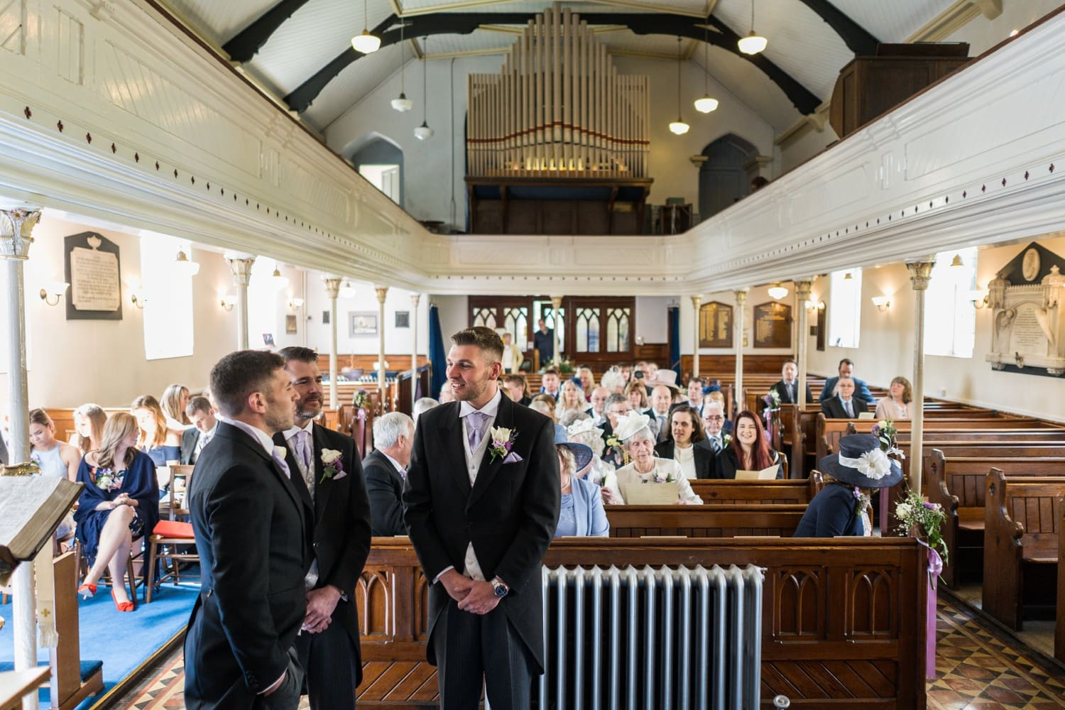 Wedding at St Peter's Church in Blaenavon, South Wales