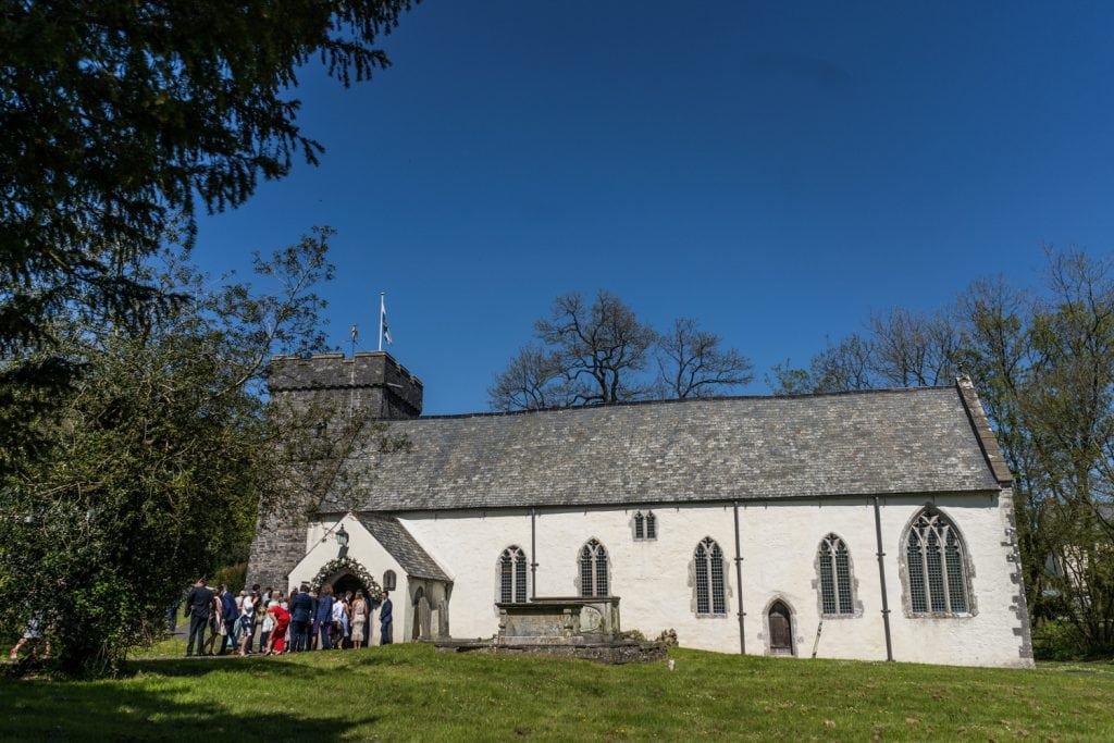 St Cados Church in Llancarfan, South Wales